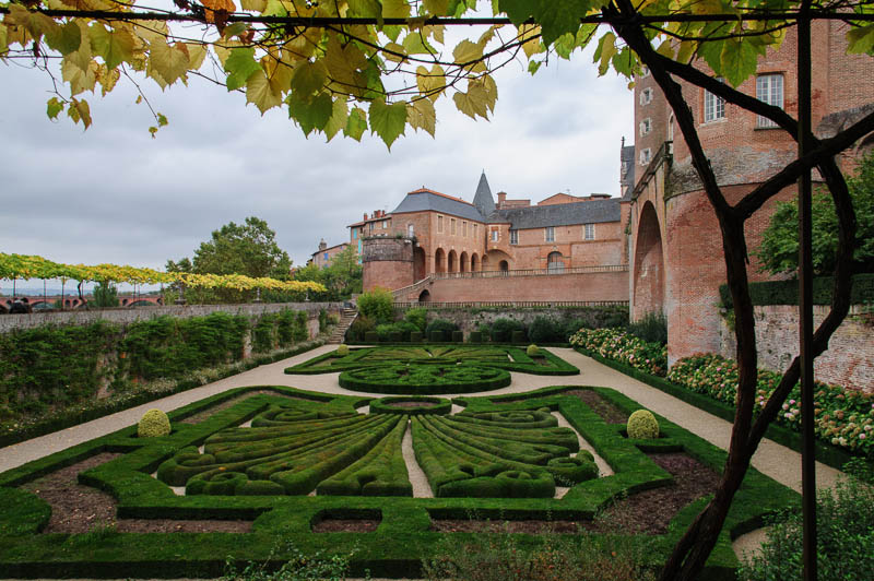 The newly restored gardens at the Toulouse Lautrec Museum, Albi, October 2012